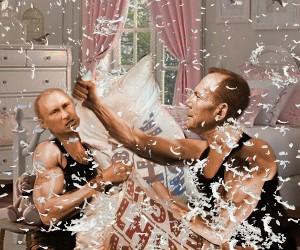 Abbott-Putin Pillow Fight