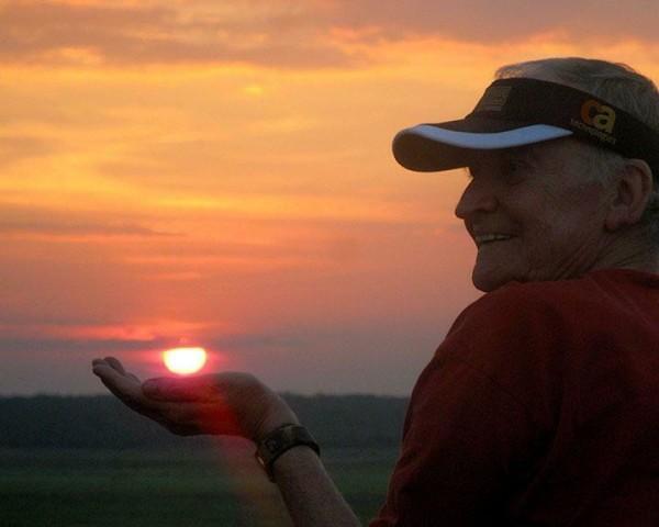Rollo at sunset